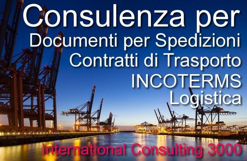 consulenza incoterms spedizioni internazionali