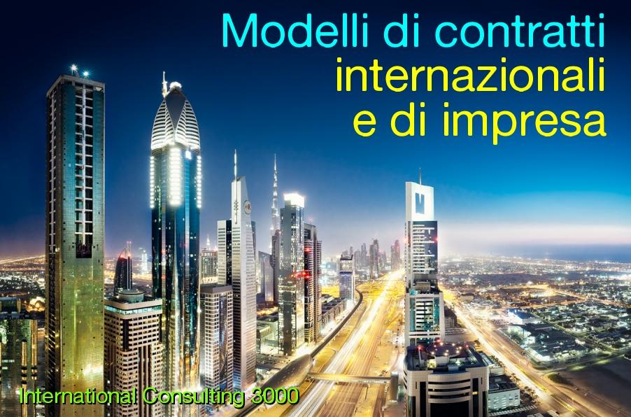 modelli contratti agenzia distribuzione franchising fornitura vendita off set countertrade