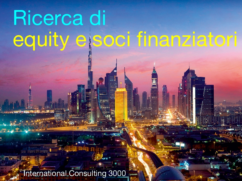 ricerca finanziatori equity finanziatori industriali soci progetti fondi investimento