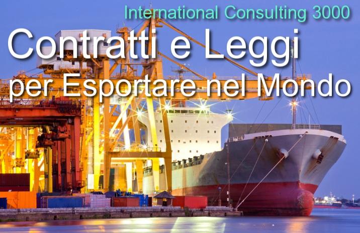 contratti export redazione correzione bozze legge estera vendita distribuzione